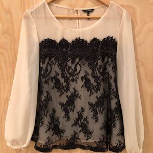 Sheer Lace Blouse Daisy Fuentes
